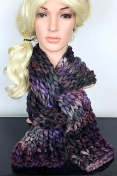 Super Chunky Scarf Chunky Knit Scarf Winter Scarves Knit