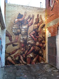 Street art in Melbourne Australia by Argentinian street artist Franco Fasoli aka JAZ Street Art Love, Urban Street Art, Best Street Art, Urban Art, Graffiti Art, Spray Can Art, Street Art Photography, Building Art, Chalk Art