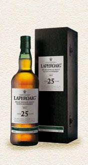 Laphroaig Single Malt Whisky - 25 Year Old single malt available from Whisky Please.