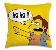 """""""Ha Ha"""" (capa para almofada 40cm x 40cm) R$39,00 Frete único pra todo Brasil. Pedidos: contato.moofa@gmail.com"""