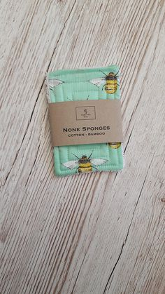 Pack of Two None Sponges No Plastic. No Waste... None.... None Sponge The None Sponges are plastic free alternatives to disposable dish sponges The None Sponge is made from just Cotton & Bamboo The cotton and waffle layers sandwich the quilted naturally antibacterial and highly