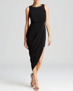 Laundry by Shelli Segal Dress - Matte Jersey Asymmetric Hem | Bloomingdales's