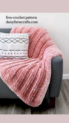 Crochet Daisy, Knit Or Crochet, Crotchet, Crochet Hooks, Crochet Home Decor, Crochet Crafts, Crochet Projects, Baby Afghan Crochet Patterns, Crochet Square Patterns