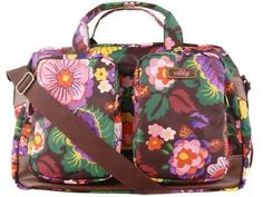 Oilily Weekender Travel Bag Carry All Bag Brown Purple Oilily