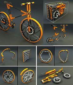 eco // 07 Even the Wheel can be folded - folding bike - bici pieghevole
