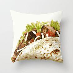 Taco  Throw Pillow by Deb Haugen - $20.00