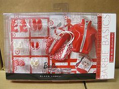 2011 Barbie Basics Accessory Pack- Look Coll-Red 746775016500 Sewing Barbie Clothes, Barbie Shoes, Vintage Barbie Clothes, Doll Clothes, Barbie Outfits, Barbie Doll House, Ken Doll, Toy Playhouse, Art Dolls