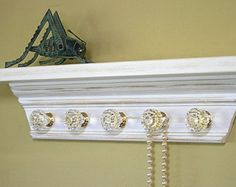 accessory organizer jewelry holder scarf by oldtimehomedecor