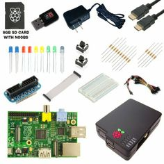 Amazon.com : CanaKit Raspberry Pi Ultimate Starter Kit (Over 35 Components: Raspberry Pi + WiFi Dongle + 8GB SD Card + Case + Power Supply a...