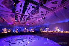 Amazing draped ceiling by Tiffany Cook Events for Jackie Long & #NFL OT Jake Long's #wedding
