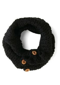 Stage Door Circle Scarf in Black, #ModCloth