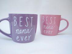 Best Nana Ever Coffee Mug // Best Nana Ever Gift // Personalized Gift for Grandma  // Cute Gift for Grandma // New Grandma Gift Idea