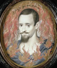 """Another Hilliard miniature (boy with flames, or """"Shannon"""" as I like to call him)"""