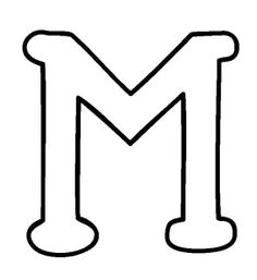 big letter m coloring pages - Letter M Colouring Pages