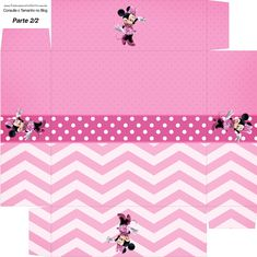 Pretty Minnie in Pink: Free Printable Boxes. Minnie Mouse Gifts, Minnie Mouse Birthday Decorations, Paper Doll House, Paper Dolls, Pink Parties, Mouse Parties, Printable Box, Free Printables, Packing Boxes