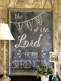 Chalkboard-the joy of the Lord is my STRENGTH-AMEN!