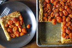 herbed tomato and roasted garlic tart | http://smittenkitchen.com
