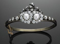 19th Century Pearl and Diamond Bracelet by Fred Leighton- wish it were a ring!