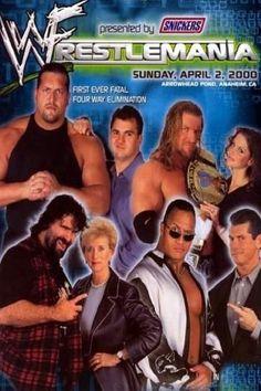 WWE WrestleMania 2000 (2000)   http://www.getgrandmovies.top/movies/42652-wwe-wrestlemania-2000   WWF Champion Triple H vs. The Rock vs. Mick Foley vs. The Big Show, Two Falls Match: WWF Intercontinental