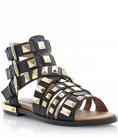Check out Triple Buckle Sandal With Polished Metal Studs on