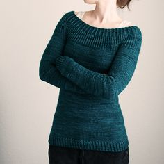 Seacoast by Joji Locatelli. malabrigo Worsted in Emerald colorway. Pullover.