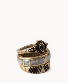 Antiqued Ring Set | FOREVER21 - 1060745371