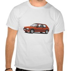 Peugeot 205 GTi T-shirts.  #peugeot #205 #peugeot205 #zazzle #tshirt #GTi #205gti