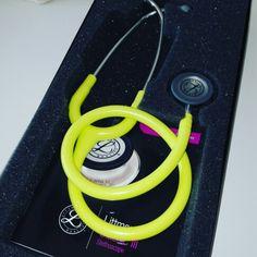 My new boyfriend... #stethoscope #littmann #lemon #lime #love #doctor #medic #medicine