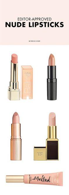 5 nude lipsticks editors love (via @byrdiebeauty)