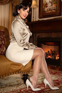 Special Occasions are not complete without our New Glimmer Reinforced Heel and Toe Stockings. We used ultra sheer 15 denier yarn, gave them a super soft finish and added our world famous Secrets In Lace welt imprint. Style 9940  $19.99