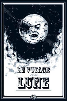 """Viagem à Lua (Le voyage dans la lune, 1902). Curta-metragem de 13 minutos com direito a todo talento, imaginação e criatividade de Georges Méliès. O foguete aterrisando no olho da lua é apenas uma imagem clássica dessa pequena obra-prima com cenários pintados à mão e selenitas com fantasias incríveis. Assista """"A Invenção de Hugo Cabret"""" e entenda um pouco mais o mundo de Georges Méliès."""