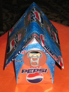 Wood and Soda Can Birdhouse