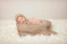 """Gorgeous textured knit blanket in beautiful neutral colors.A great staple blanket to be used for laying that could be used on either Baby Girl or Baby Boy... Perfect for a photo prop and just as great for keeping new baby warm and in style. Approx. 20"""" x 20""""MADE TO ORDERPlease check my shop Policies for knit to order turn around times. Thank you to Joyful Photography!https://www.facebook.com/Joyful.Photography.officialThank you to Sugarfre..."""