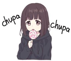 It is a cute sticker of kurumi-chan. Dibujos Anime Chibi, Cute Anime Chibi, Chica Anime Manga, Cute Anime Pics, Anime Neko, Kawaii Neko Girl, Kawaii Chan, Fanarts Anime, Anime Characters