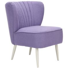 Morgan Accent Chair, Purple. This type of chair works well in bedrooms -- they don't take up much space, but are comfortable and can be used to accent your color scheme. They bring the same good qualities wherever they are used.