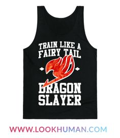 In order to master your dragon slayer magic you have to do some serious training. Rock this nerdy Fairy Tail anime fitness tank and take on the gym with style.