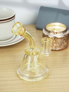 """This 5.5"""" Mini Beaker Bong features durable fumed golden boro glass, a spinning windmill perc, a bent neck mouthpiece and a sturdy wide beaker base. Bongs Online, Dab Rig, Glass Bongs, Boro, Windmill, Pipes, Spinning, Napkin Rings, Things To Come"""