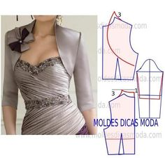 Can add ruffle or pleated trims, bows, lace etc Coat Patterns, Dress Sewing Patterns, Clothing Patterns, Fashion Sewing, Diy Fashion, Sewing Clothes, Diy Clothes, Costura Fashion, Diy Kleidung