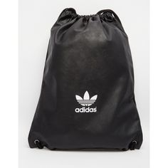 b67135d44e adidas Originals Drawstring Backpack in Faux Leather ($54) ❤ liked on  Polyvore… Zaino