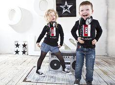 DIY Rocker shirt  for toddler - cassette tape print on black shirt
