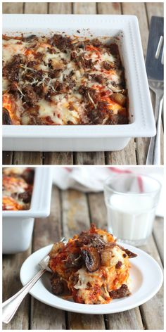 Easy Sausage Pizza Bake - pizza night made easy!