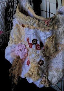 ~~Tea's Hope Chest~~: Pearls Vintage Lace Crochet Bag~