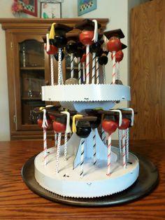 Graduation truffle cake pops