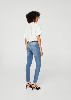Jean skinny push-up kim - Femme Skinny Fit, Skinny Jeans, Mango Presents, Mango Fashion, Latest Fashion Trends, Push Up, Fashion Online, Cool Outfits, Pants