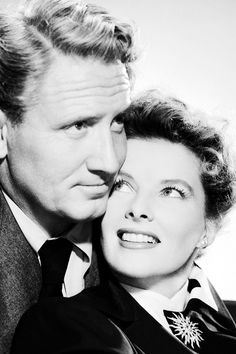 Spencer Tracy and Katharine Hepburn photographed for 'Without Love', 1945.