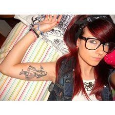 Alice in Wonderland tattoo & cool hair