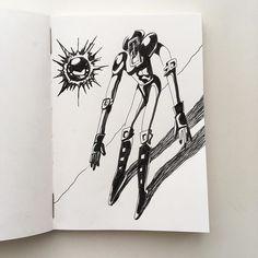 今日のウォーズマンは 「坂道下りウォーズマン」 太陽の位置から考えると 影はここじゃない説が ありますがあれは太陽ではなく  サンシャインのキーパーツ なのです。フォフォフォ。 #kinnikuman #warsman #ussr #yudetamago #illustration #muscle #pen #sketchbook #art #japanese #Japan #manga #comic #tokyo #blackandwhite #6pack #キン肉マン #今日のウォーズマン #ゆでたまご先生 #イラスト #漫画 #落書き #ウォーズマン #イラスト #手描き #ペン #白黒 #スケッチブック