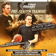 School 4 Hoops Pre-Season Training Basketball Program Announced for Fall 2017   Coach Jon Giesbrecht has announced he is accepting 10 elite clients from September to November. Clients will train once a week on-court (Thursday nights for boys and Wednesday nights for girls - Starting September 13th ending November 24th 9 on-court sessions). Cost of program $149.99 payment made a week before the first workout - either cash cheque or online payment. Location is to be determined most likely West…