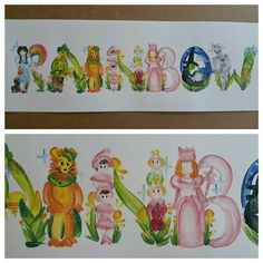 This listing is for a custom Wizard of Oz name painting. Each letter is painted by hand, making each name, different and unique! *Characters