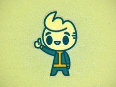 Vault_boy_colorz Fallout Art, Geek Games, Logo Design, Graphic Design, Pew Pew, Character Design, Geek Stuff, Tech, Logos